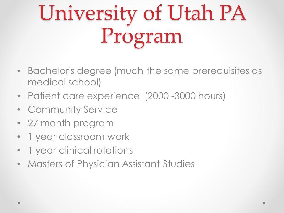 university of utah physician assistant program karen mulitalo, mpas ...