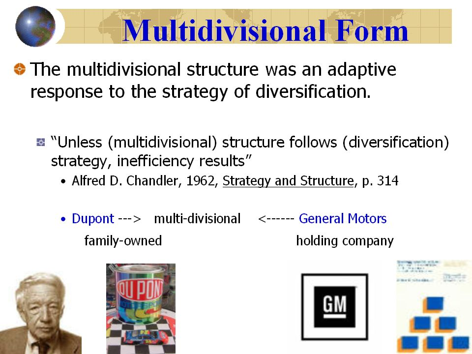 multidivisional structure example