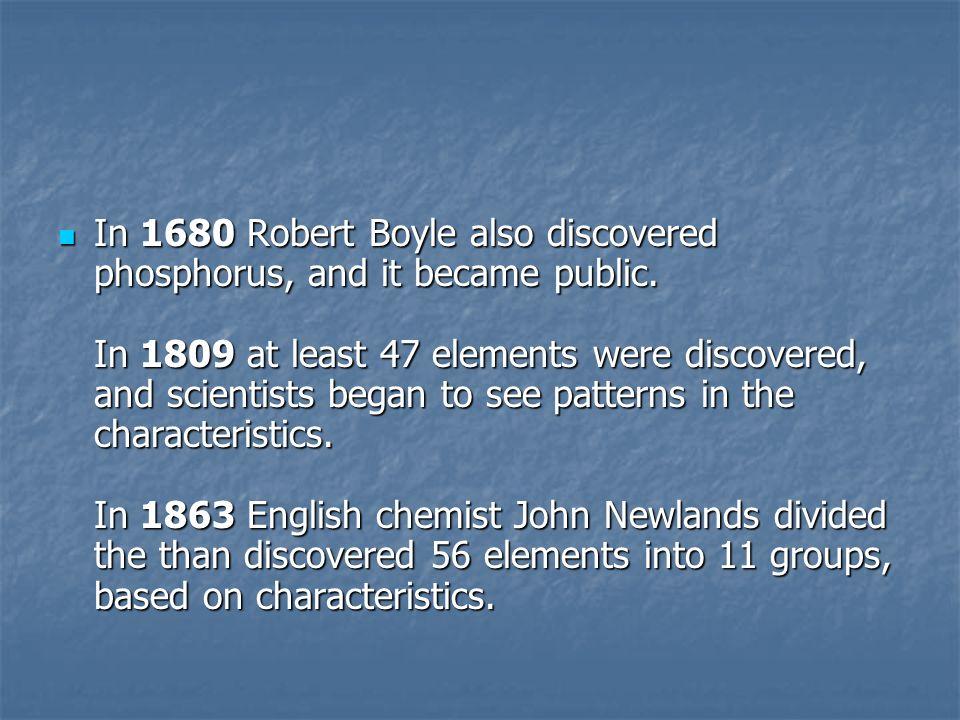 Periodic Table In 1669 German Merchant And Amateur Alchemist Hennig