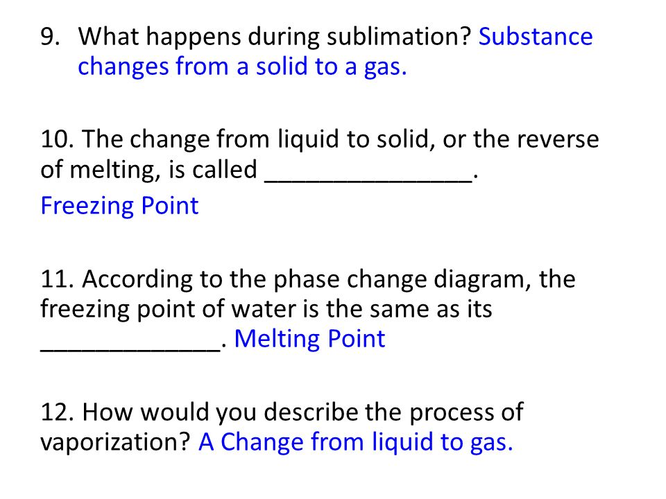 States Of Matter Properties And Changes Study Guide Answers Ppt