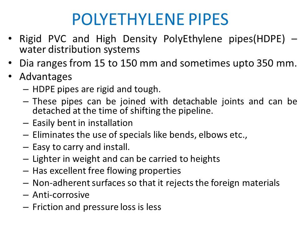 19 POLYETHYLENE PIPES ...  sc 1 st  SlidePlayer & Pipe Materials and Types of Joints. Types of pipe materials Metallic ...