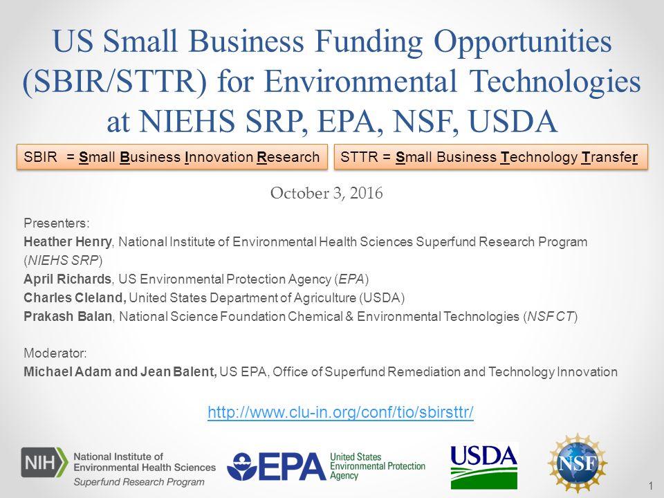 EPA NSF USDA Presenters Heather Henry National Institute Of Environmental Health Sciences Superfund Research Program NIEHS SRP April Richards