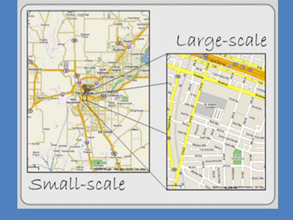 Map Scale Large Scale And Small Scale Maps Scale Determines The - Large scale world map
