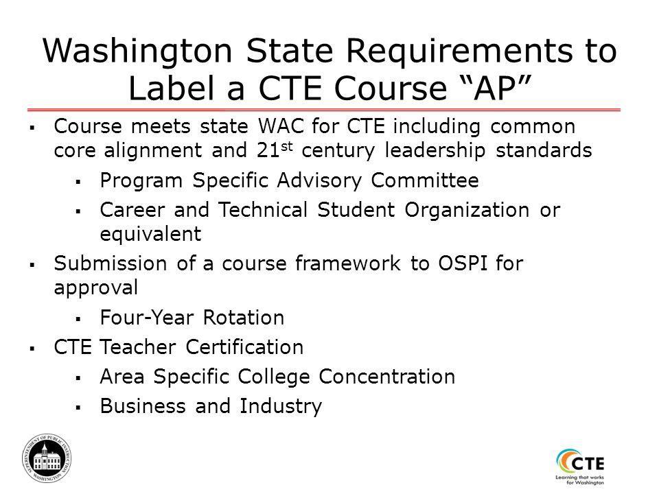 Building a Rigorous Educational Program Through AP and CTE WA-ACTE ...