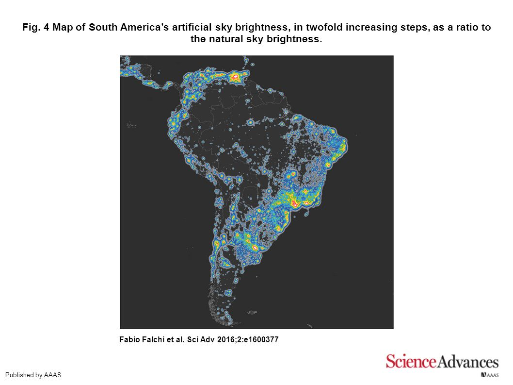 The new world atlas of artificial night sky brightness by ...
