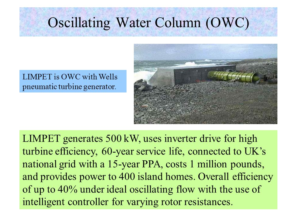 Oscillating Water Column (OWC) Prof.