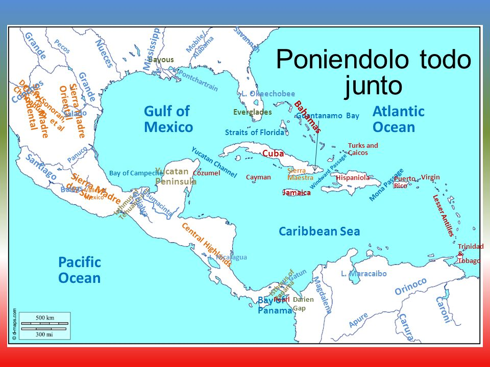 Physical Geography of Central America Fill in your map as we ... on island peninsula map, cape peninsula map, lake peninsula map, malay kra peninsula map, panama canal map,