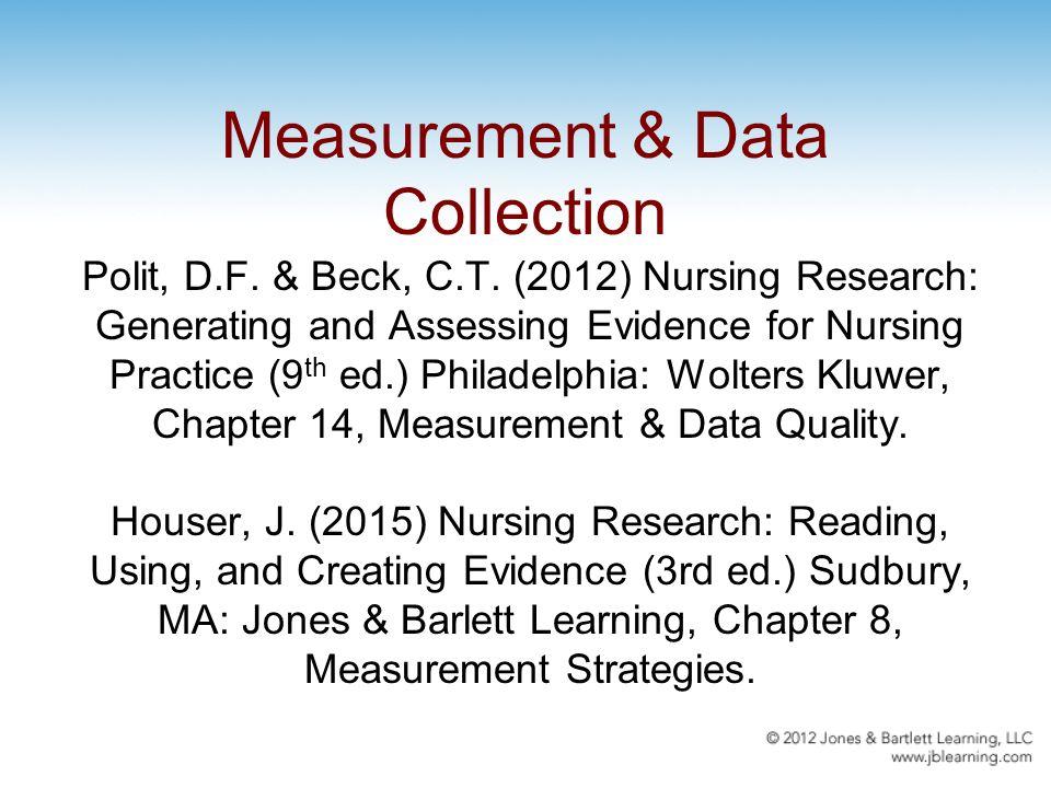 Measurement Data Collection Polit D F Beck C T 2012