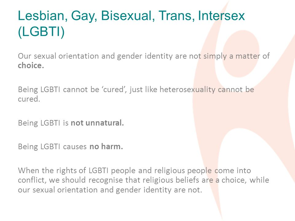 Sexual orientation is a matter of choice