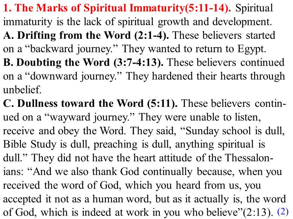 Spiritual maturity dating