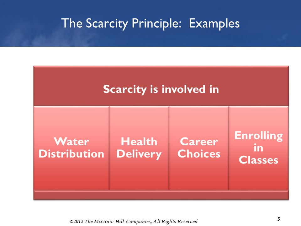 scarcity principle examples