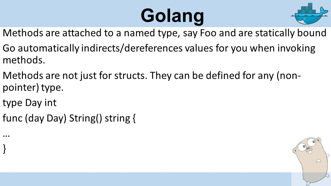 Golang Functions Functions allow modularization func MySqrt