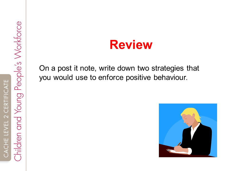 tda 3 3 positive behaviour Unit tda 29 support children and young people's positive behaviour learning outcomes • you will know about your work setting's policies and procedures for.