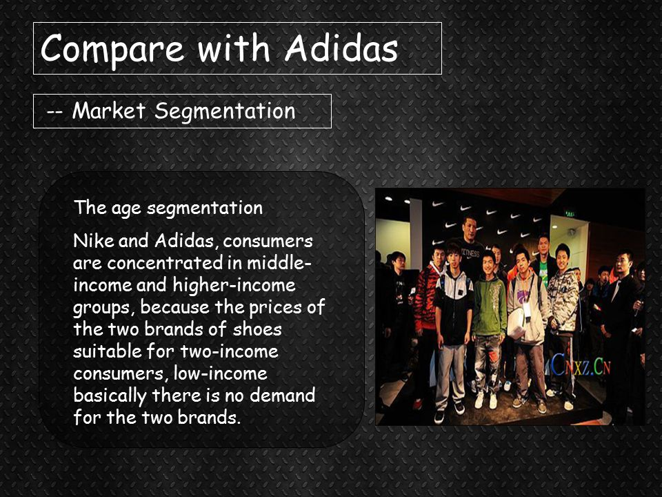 nike segmentation Most of nike's (nke) incremental revenue was recorded in its north america market, nike's largest geographical segment nike derived ~44% of its revenue from north america in 1h15.