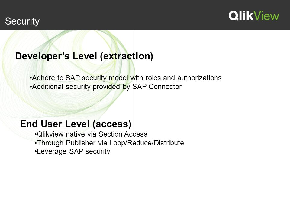Qlikview Connector for use with SAP Netweaver(R) Adrian