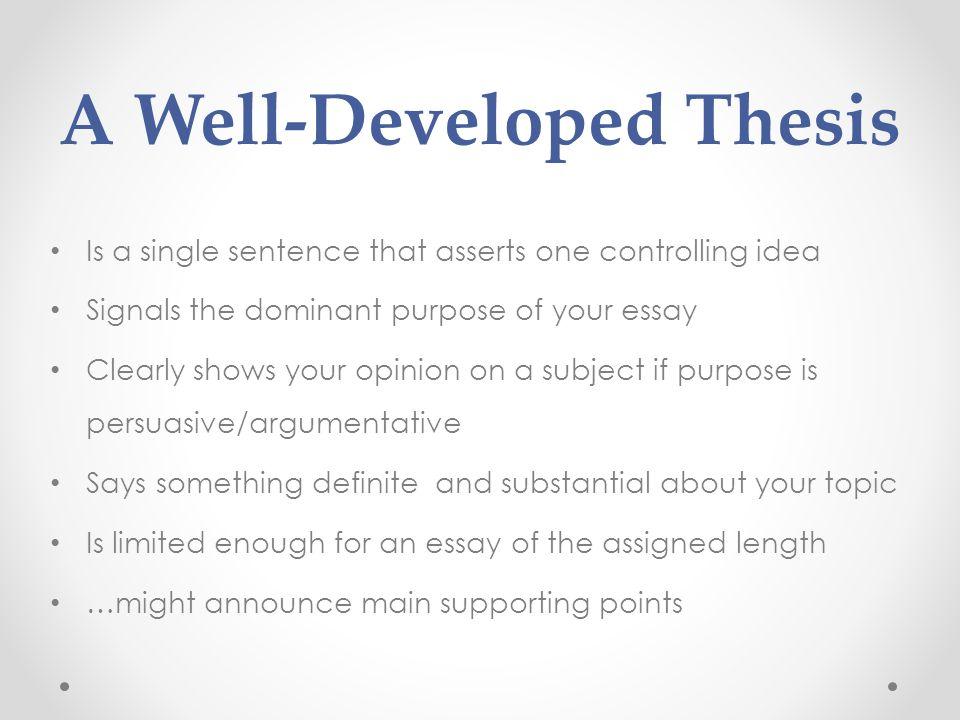 ap euro thesis statement