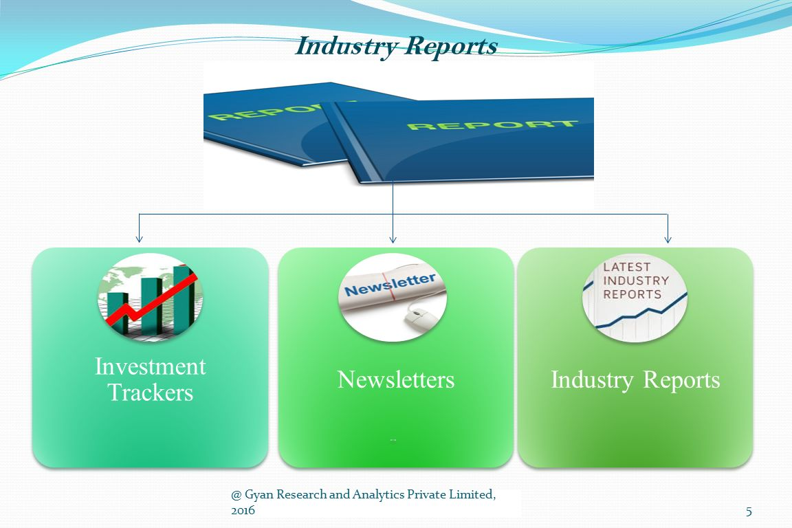 Industry Reports Investment Trackers NewslettersIndustry Gyan Research and Analytics Private Limited, 20165