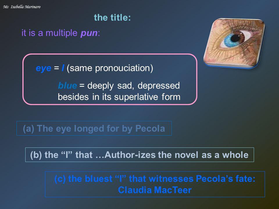 claudia macteer the bluest eye