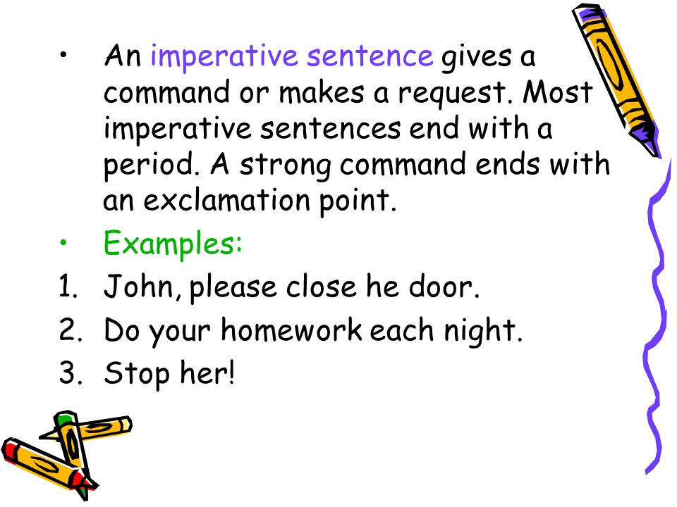 Classifying Sentences by Purpose. Objective: You will be able to ...