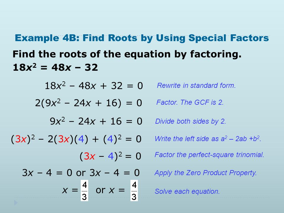 5.3 and 5.4 Solving a Quadratic Equation. 5.3 Warm Up Find the x-intercept  of each function. 1. f(x) = –3x f(x) = 6x + 4 Factor each expression. - ppt  download