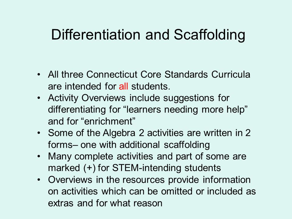 Connecticut Core Curricula for High Schools Algebra 1, Geometry ...