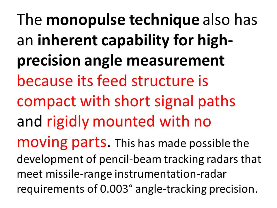 Advanced Monopulse Tracking Radar  11/22/20162 INTRODUCTION Typical