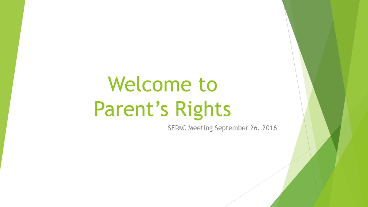 First And Second Quarter 2016 Bsea >> Welcome To Parent S Rights Sepac Meeting September 26 Ppt Download