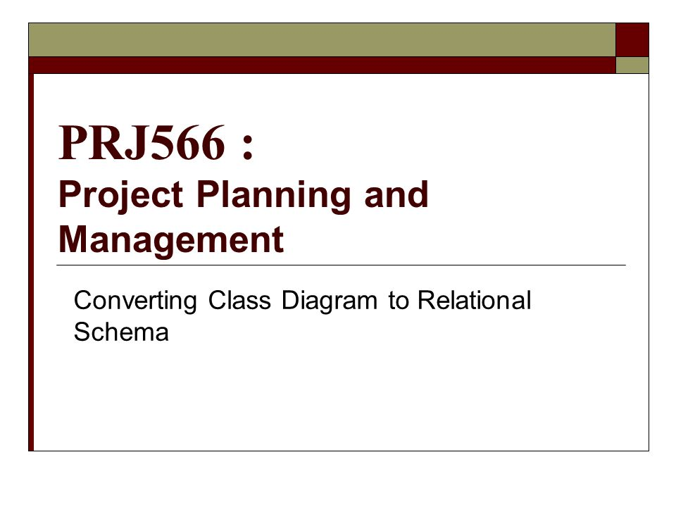 Prj566 Project Planning And Management Converting Class Diagram To