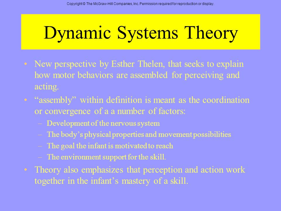 esther thelen dynamic systems theory