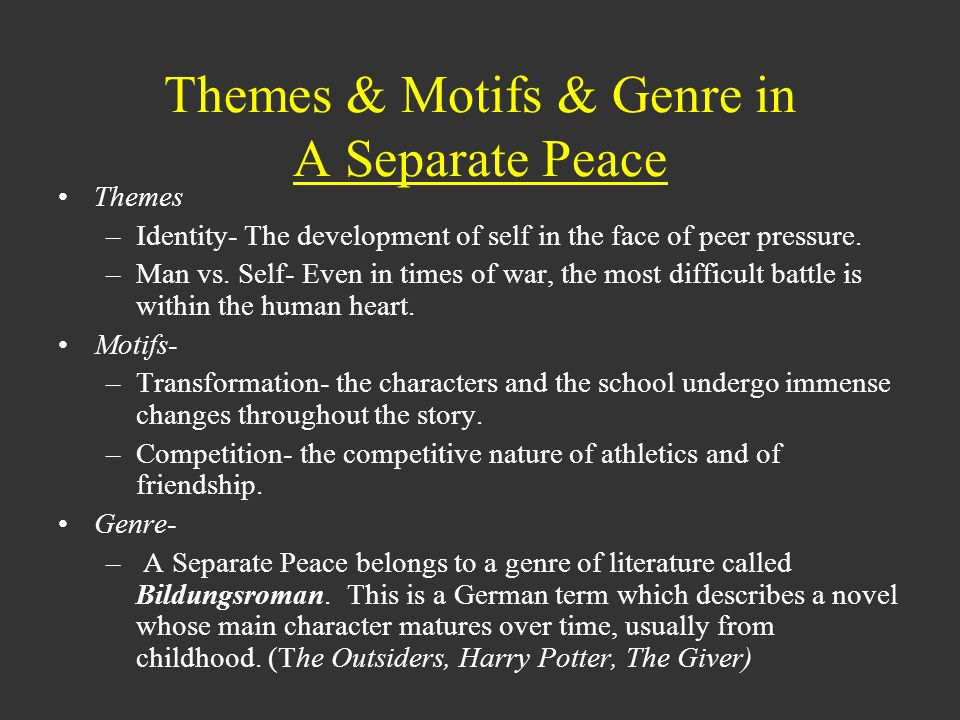 what is a main theme of a separate peace