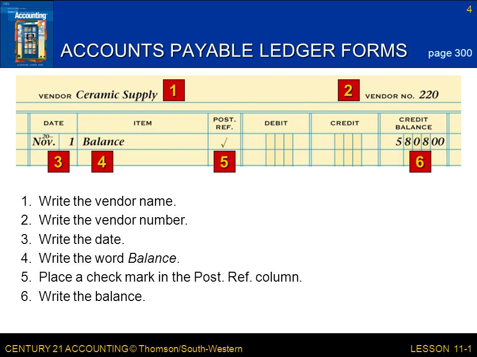 century 21 accounting thomson south western lesson 11 1 posting to