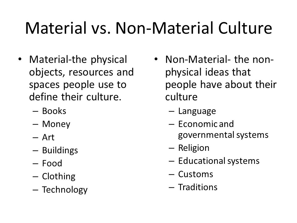 material and nonmaterial culture definition