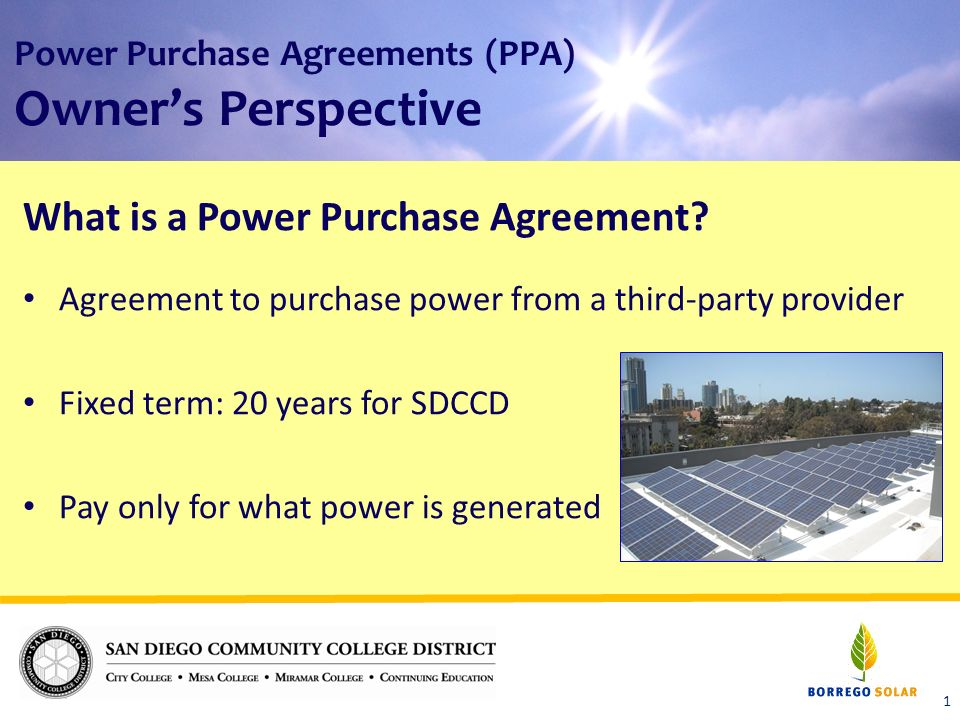 Power Purchase Agreements Ppa Owners Perspective What Is A Power