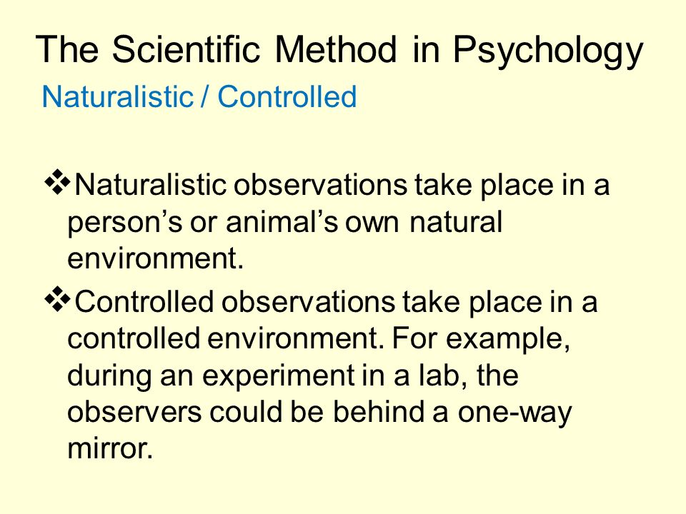 naturalistic observation method