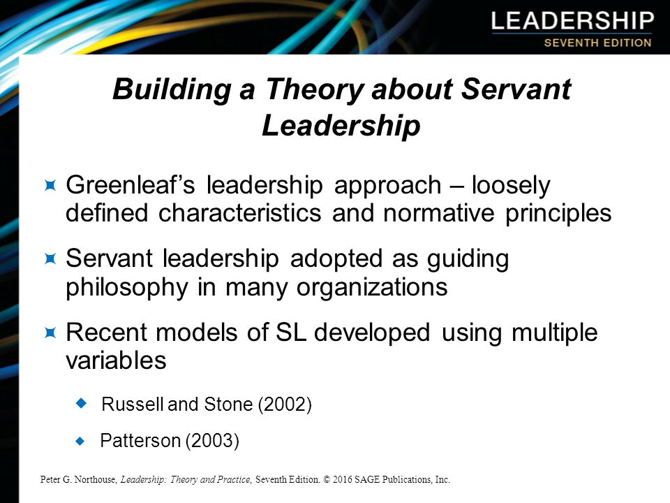 the philosophy of servant leadership The idea of servant leadership is a great place for new managers to start robert greenleaf coined the term 35 years ago, but the concept is still vital and empowering.