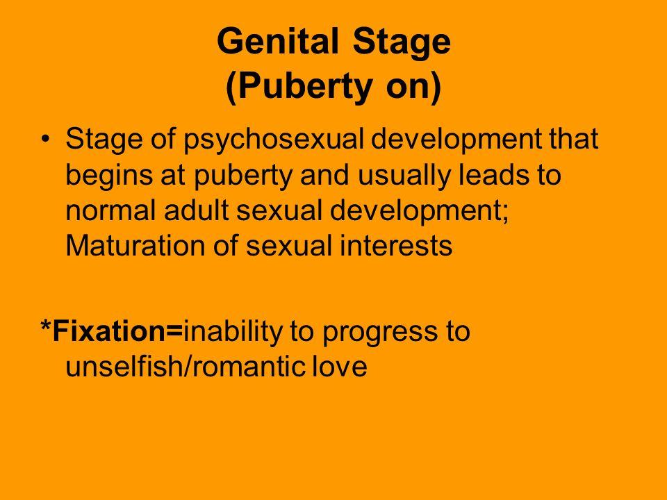 Psychosexual genital definition