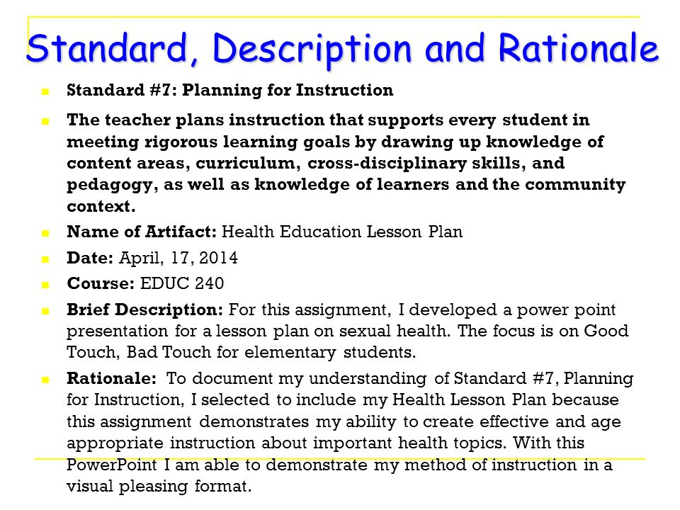 lesson plan for p e essay Lesson plan: defining aims what is a lesson plan a lesson plan is a teacher's detailed description of the course of instruction for an individual lesson or a teacher's document used to plan a lesson need help with your essay take a look at what our essay writing service can do for you.