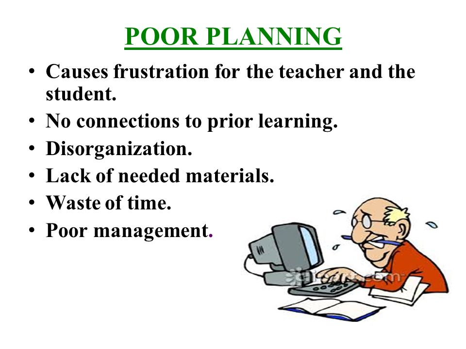 Effective lesson planning importance of lesson planning a lesson poor planning causes frustration for the teacher and the student ibookread ePUb