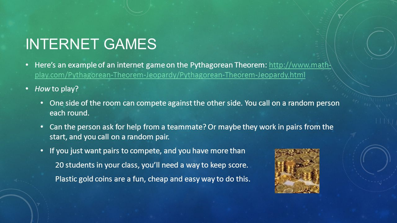 GAME IT UP! WAKE UP YOUR REMEDIAL MATH CLASS. DO YOU USE GAMES IN ...