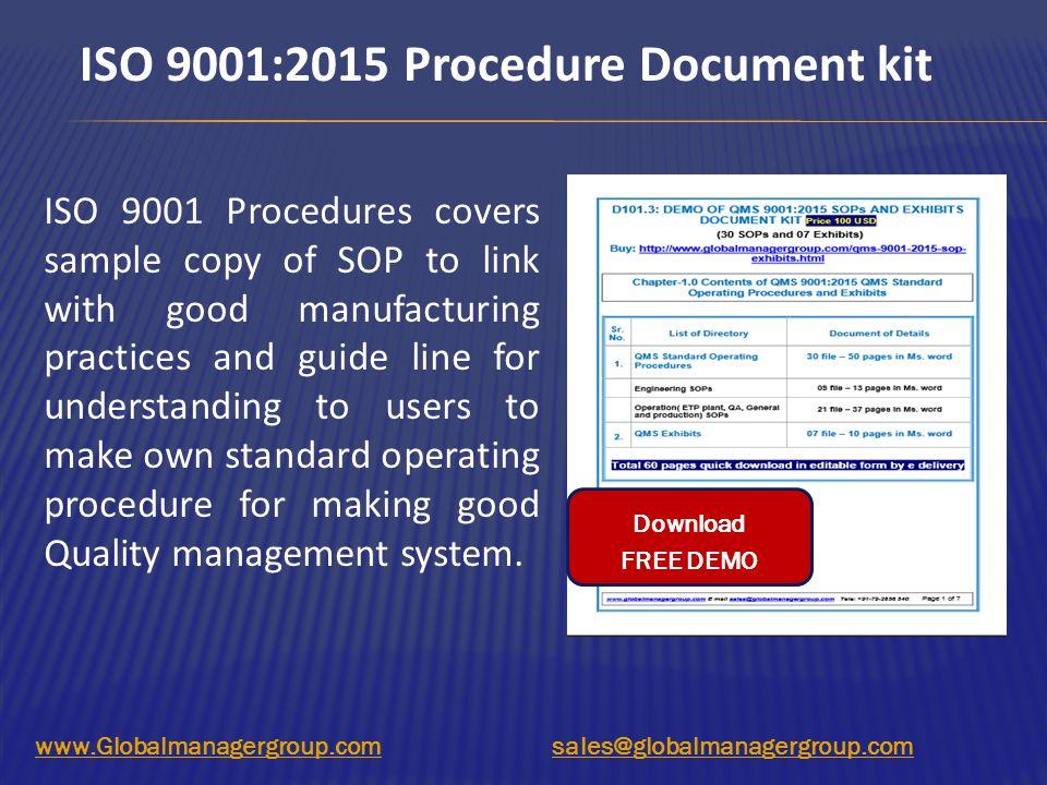 iso 9000 standard operating procedure