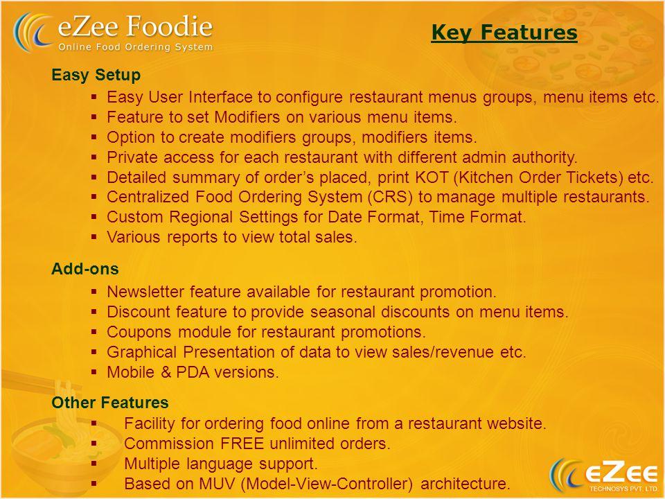 Ezee Technosys Pvt Ltd Introduces Ezee Foodie Online Food Ordering