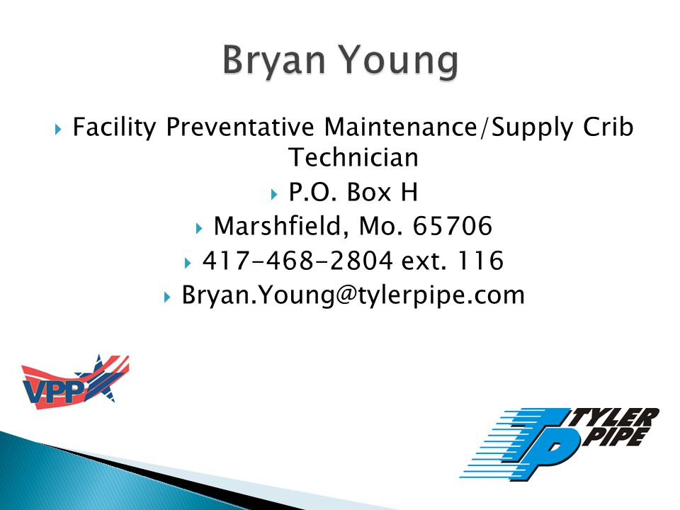 Facility Preventative Maintenance/Supply Crib Technician P.O.
