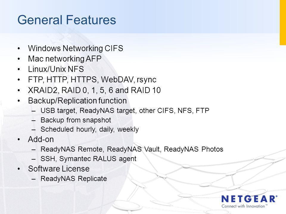 NETGEAR FSR/CAM Training Network Storage Mark Song Desi