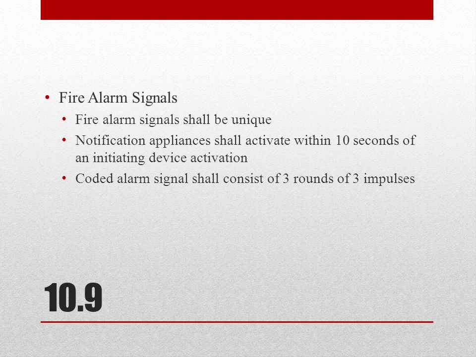 10.8 ECS Priority Signals Must be visible indication automatically with in 10 seconds at the fire alarm control unit or other designated location