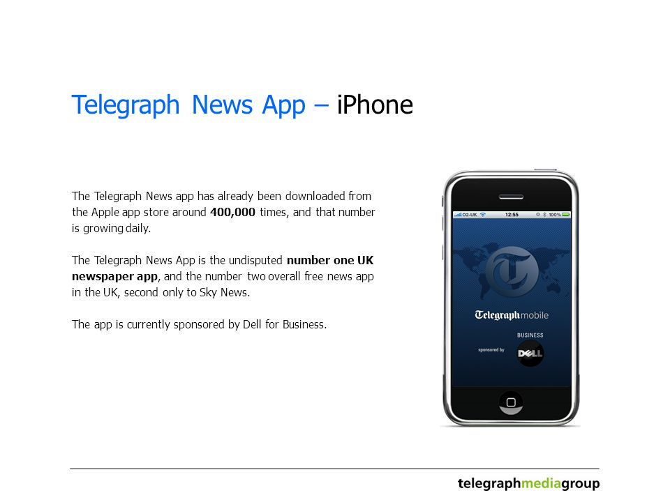 To: From: Re: Telegraph News iPhone App Date:  Telegraph News App