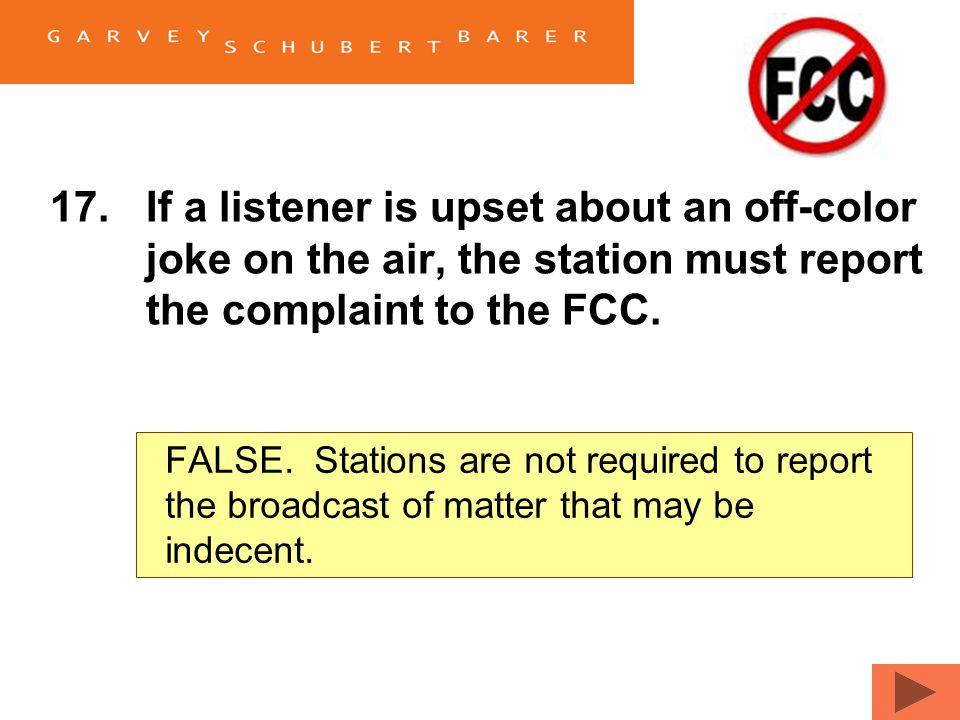 indecent off Fcc pissed