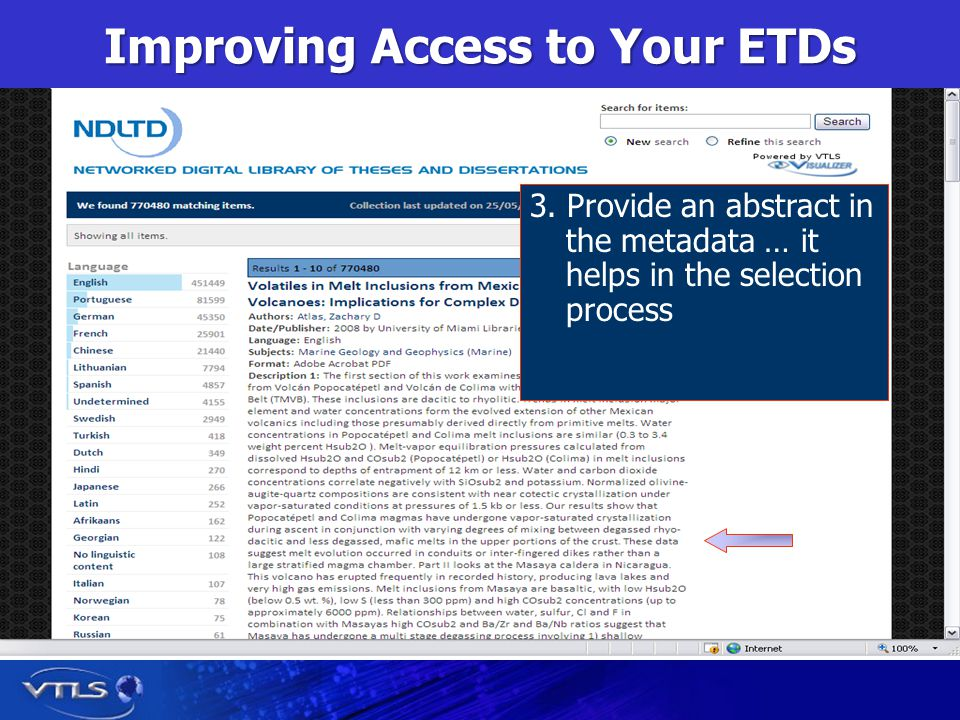 Improving Access to Your ETDs 3.