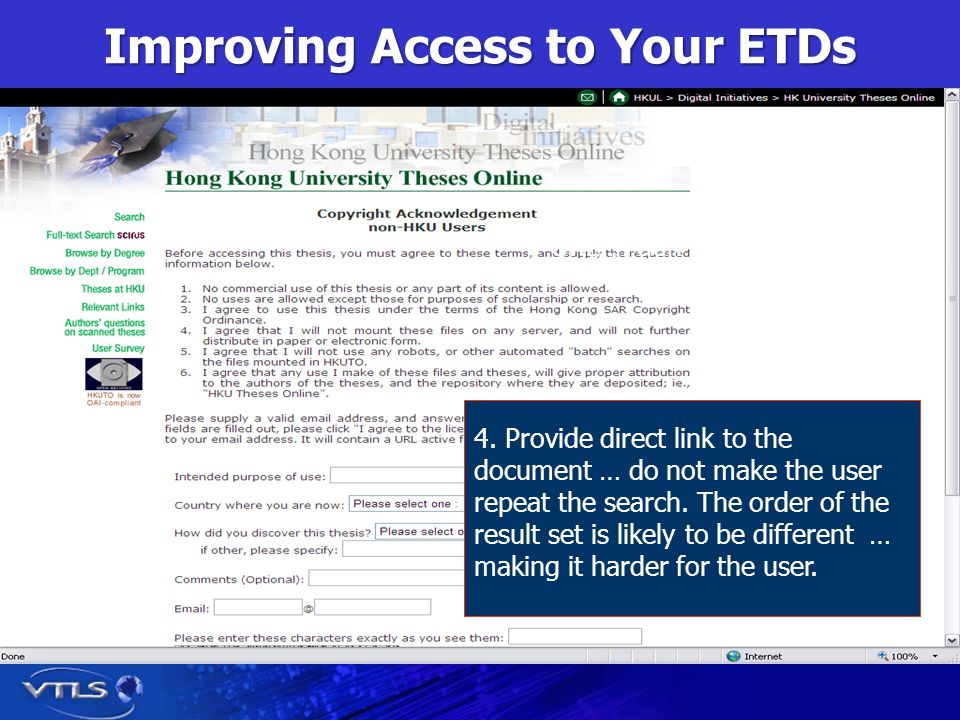 Improving Access to Your ETDs 4.