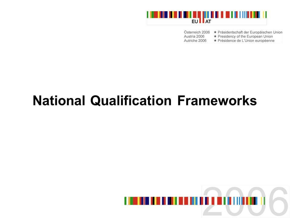 National Qualification Frameworks