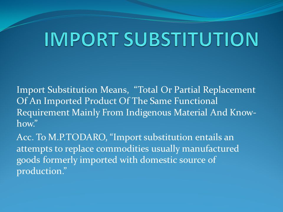 import substitution definition